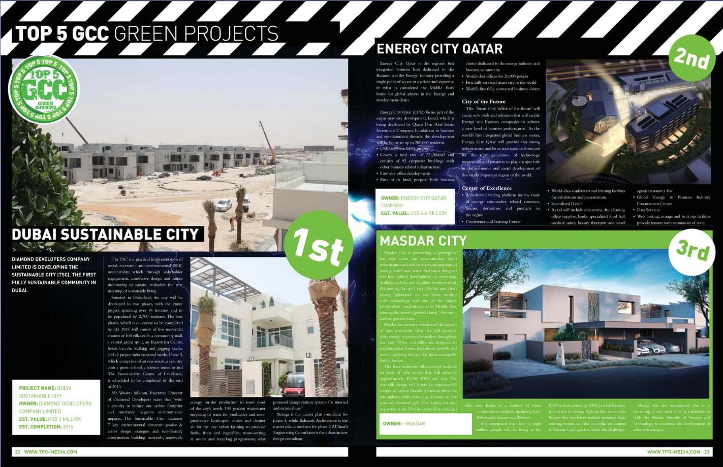 best green projects in gcc dubai sustainable city beats masdar